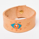 All-seeing eye wrist band - Golden Bear Belts